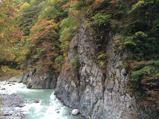 平家茶屋ちかくの橋の上から。_秋山郷