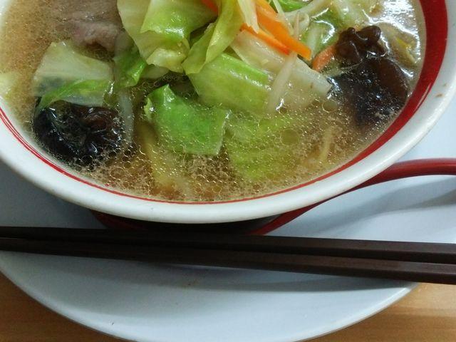 野菜中盛りのチャンポン  魚のダシでとても優しい味で美味しかったです_ちゃんぽん亭総本家