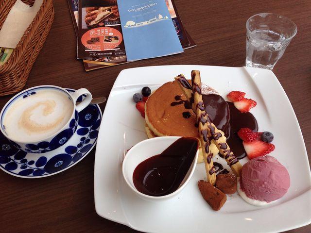生チョコのパンケーキです。_大江ノ郷自然牧場~ココガーデン