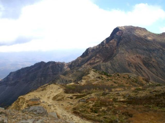 頂上付近_磐梯山