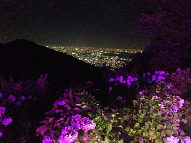 掬星台からすぐのオテルドマヤからの夜景_掬星台