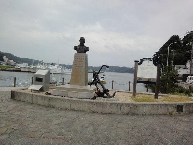 教科書で有名なペリー_ペリー艦隊来航記念碑