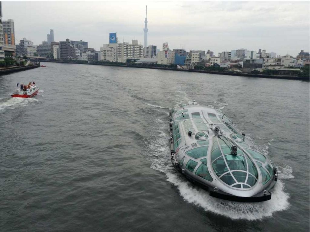 水上バス(TOKYO CRUISE) 浅草・お台場直通ライン「ヒミコ」