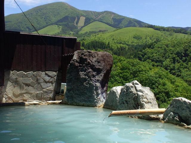平日の為、他のお客様がおらず、パシャリ。_豊礼の湯 展望露天風呂