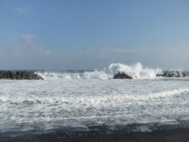 ホテルのそばの海岸です_皆生温泉