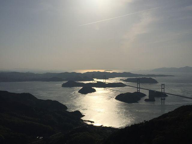 亀老山展望台からの夕陽_瀬戸内しまなみ海道