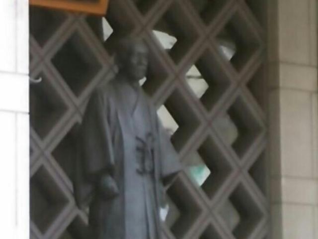 嘉納治五郎の像。_講道館柔道資料館
