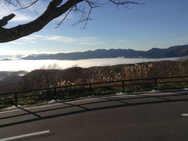雲海が見られました。_蒜山大山スカイライン鬼女台展望休憩所