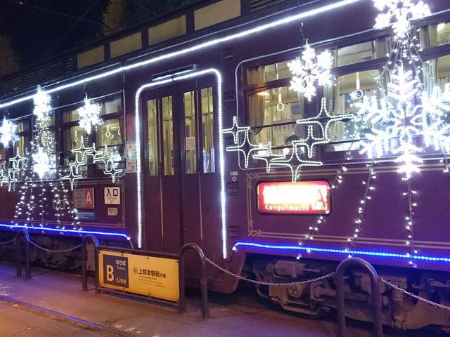 ☆イルミネーションされた電車を発見☆_熊本市電