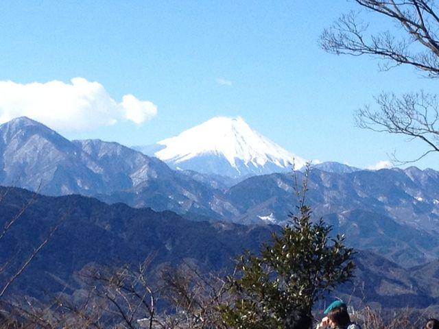 山頂からの富士山!!_高尾山