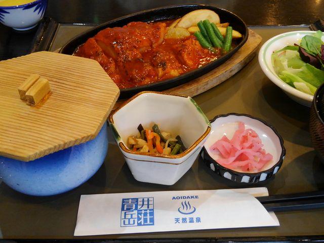 今回はガーリクチキン定食 チキン南蛮や親子丼もオススメ_青井岳荘 青井岳温泉