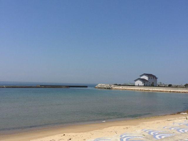 天気に恵まれました_多賀の浜海水浴場