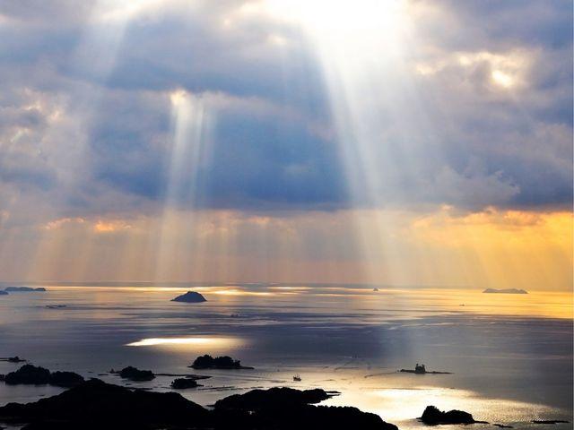 光芒が出ました_九十九島パールシーリゾート