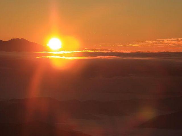 白山頂上からの日の出_白山