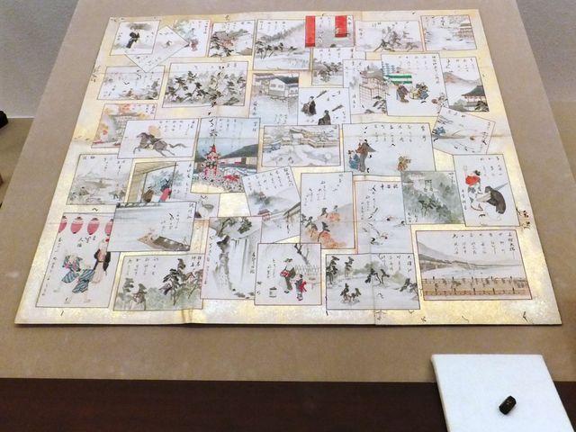 四方之眺飛双六:京都の名所や送り火などの行事が出ています。_彦根城博物館