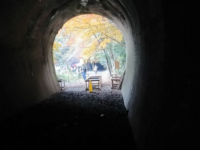 トンネルから紅葉が見えるのは素敵です。_愛岐トンネル群