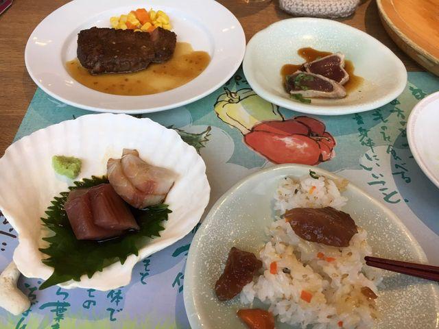 お刺身、寿司、県民プランのステーキ_食彩健美 一木一草