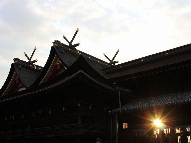 国宝の本殿。_吉備津神社