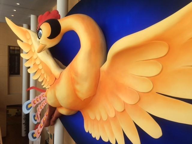 火の鳥のオブジェは圧巻_京都国際マンガミュージアム