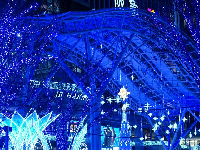 博多駅のイルミネーションはとてもきれいでした。_JR博多シティ