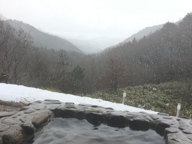 お風呂からの景色_のとろ温泉 天空の湯