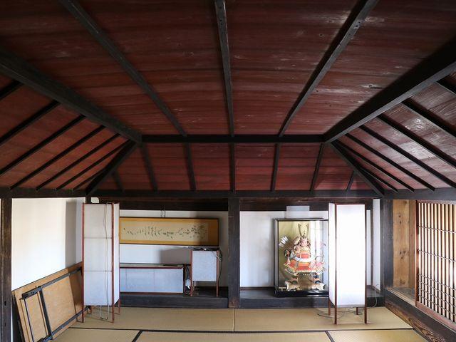 珍しい舟形天井。_肥前浜宿「酒蔵通り」
