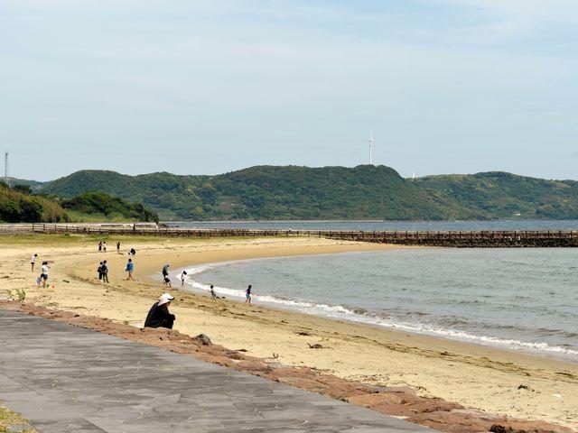 長い長い砂浜だ_千里ヶ浜海水浴場