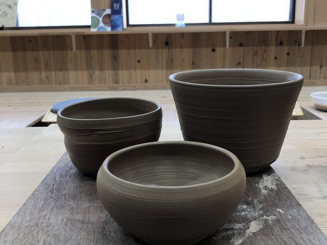 抹茶茶碗、どんぶり、おかず入れ_大谷焼 元山窯 田村陶芸展示館