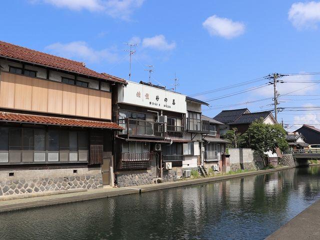 旧加茂川沿い。_米子城下町