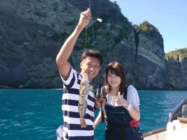 アイナメが釣れました。_小樽 青の洞窟 釣り体験付きクルーズ