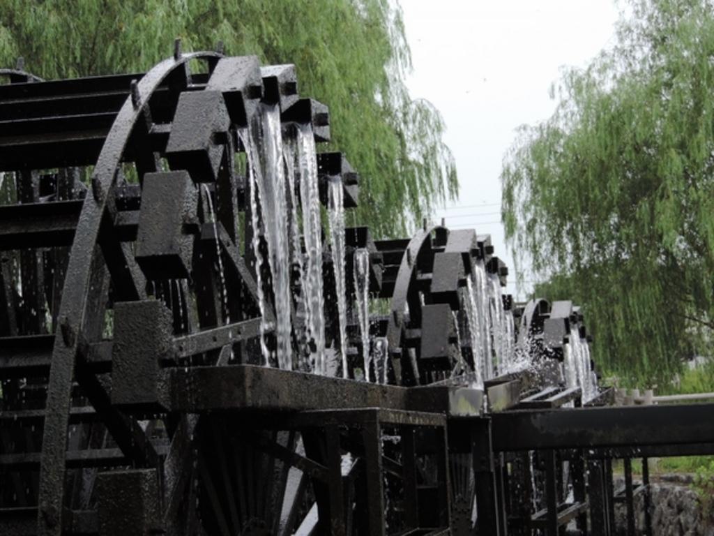 朝倉の揚水車群