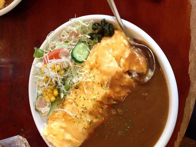 チーズオムカレーです。裏切らない美味しさ、量もありました!_CAFE'MUSTACHE ■カフェ マスタシュ■