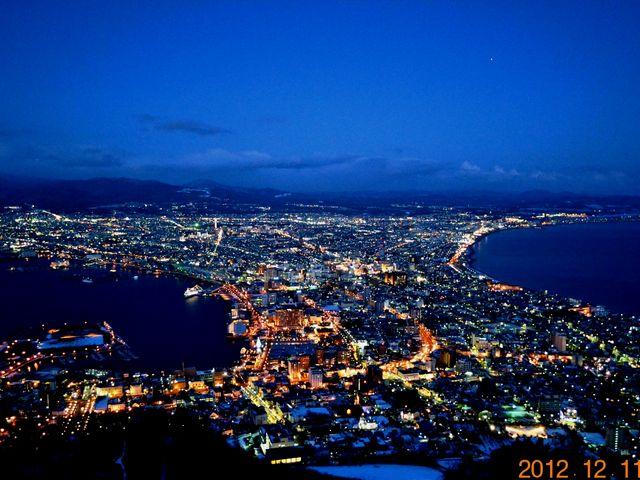 薄暮過ぎの街並み_函館山
