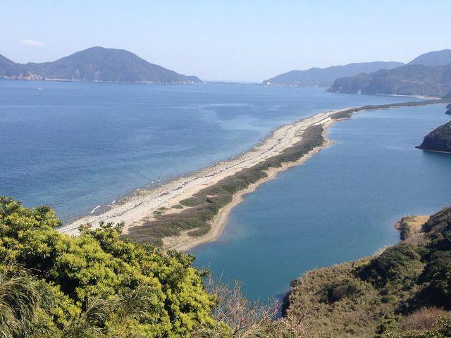 長めの浜からの眺めです。_中甑島