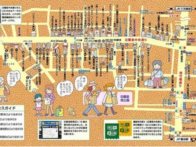 繊維街の地図です。_日暮里繊維街