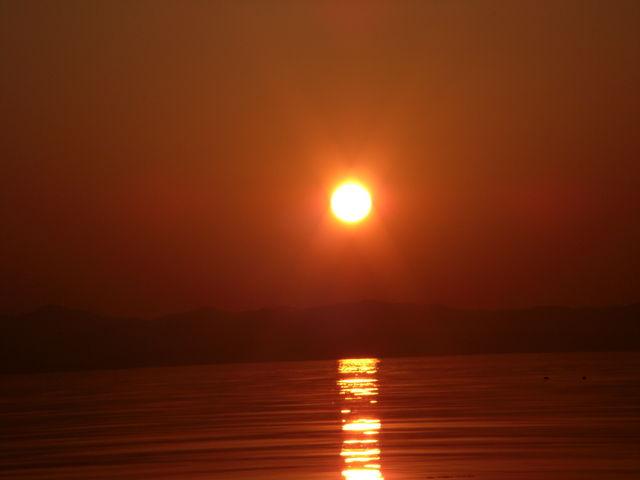日本の夕陽百選に選ばれている景色_琵琶湖