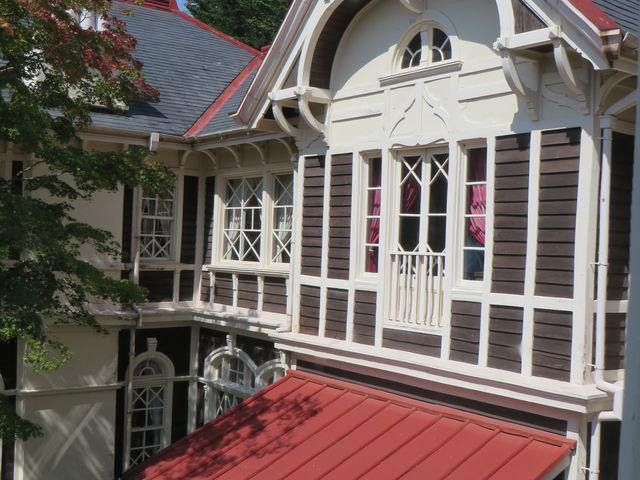 玄関2階から_重要文化財 旧三笠ホテル