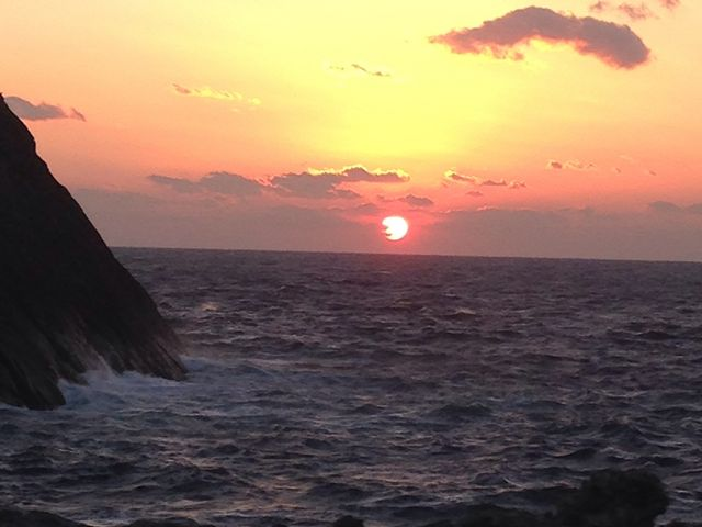 雲見 思い出岬の夕日_雲見・石部・岩地・松崎海岸