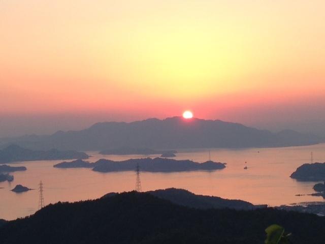夕陽が綺麗_高見山