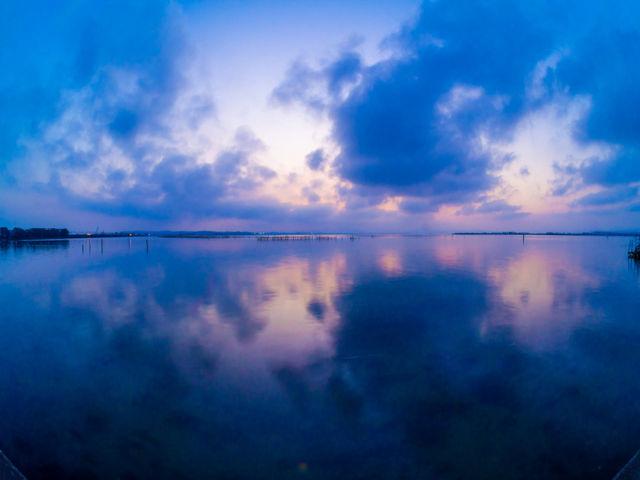 浜名湖のマジックアワー_弁天島海浜公園