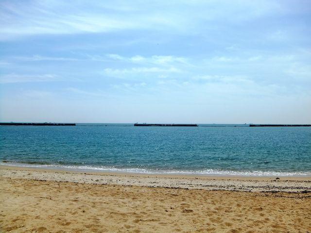 1.8キロの海岸がパノラマに広がる_須磨海水浴場