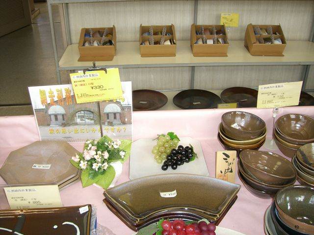 お土産屋があり、囚人の作った品が売られています。_網走刑務所