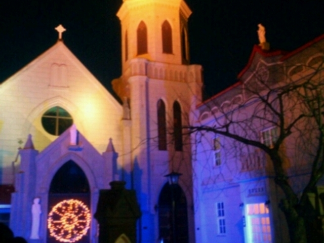 ライトアップ_カトリック元町教会