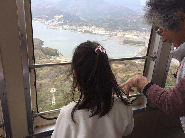 360度回転しながら周ります♪_宇和海展望タワー