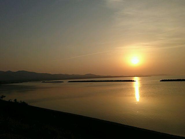陸奥湾の夕日_浅虫温泉