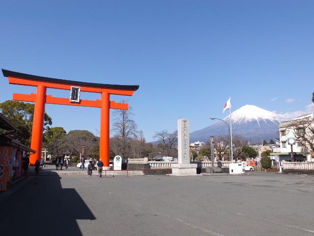絶景の富士山_富士山本宮浅間大社