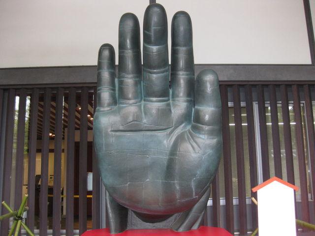 大仏様の実物大の手です_東大寺ミュージアム