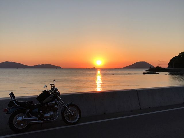 志賀島からの夕陽_志賀島