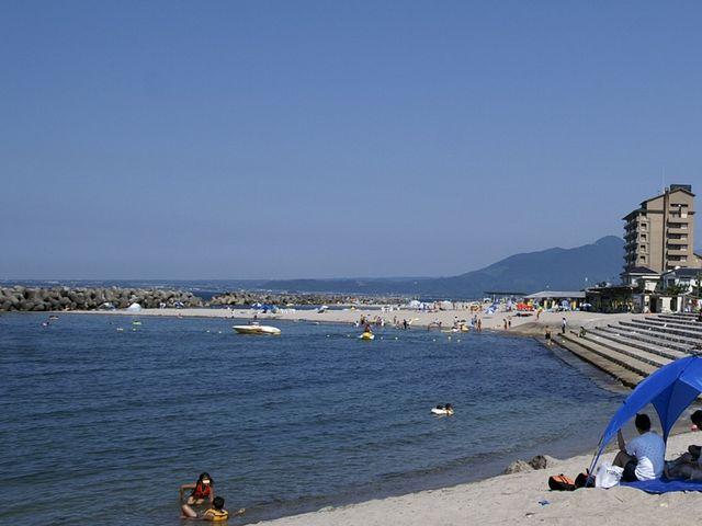 海がきれいなので、眺めているだけで癒されます。_皆生温泉海遊ビーチ(旧皆生温泉海水浴場)
