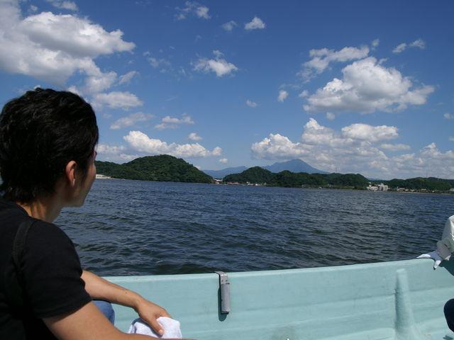 中海が雄大で、景色がほんとに良いです。_加茂川・中海遊覧船